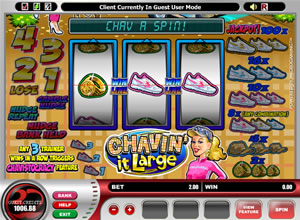 Chavin it Large fruit machine with nudges and holds
