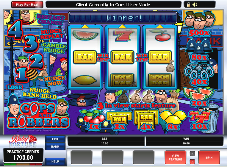 online casino slots cops and robbers slots