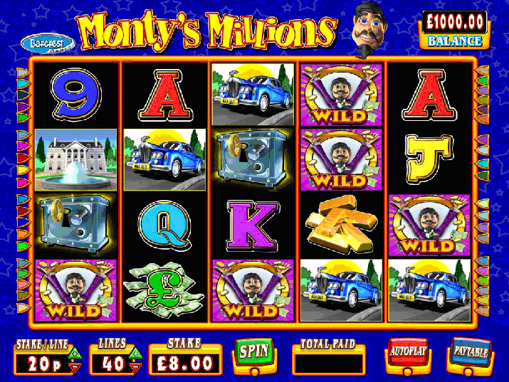 Monty's Millions Slot Machine