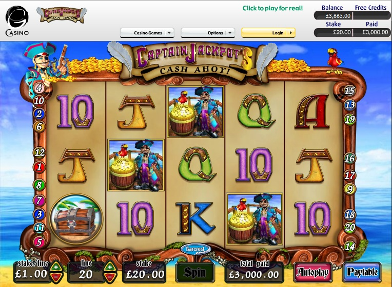 Captain Jackpots Fruit Machine