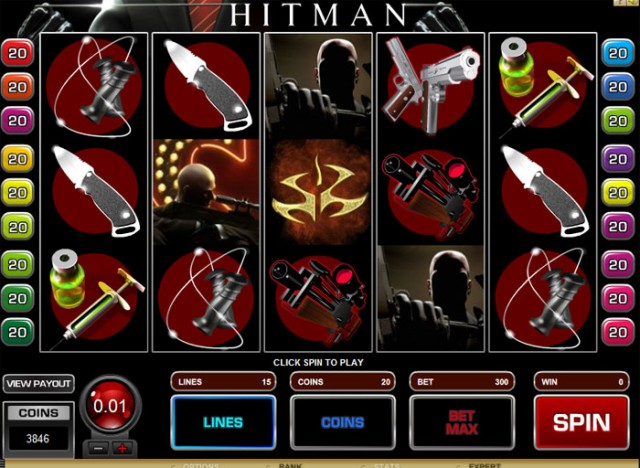 Hitman Reel and Line Slot