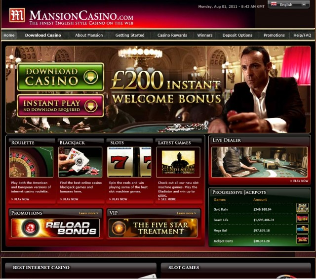 Mansion Casino Games