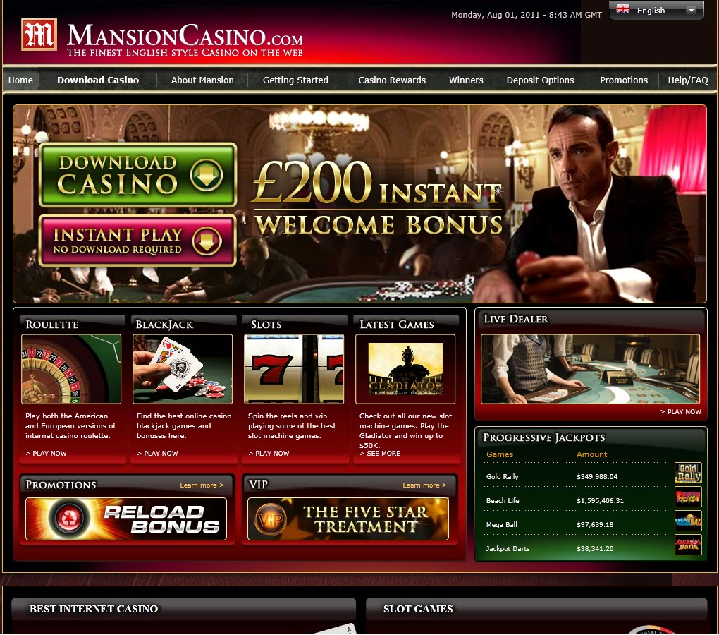 mansion online casino slots spiele