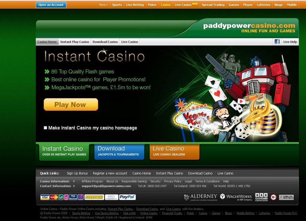 paddy power slots casino