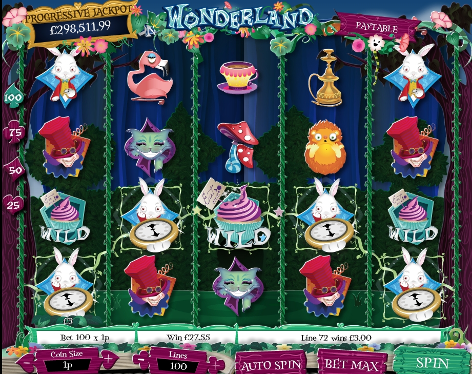 free slot alice in wonderland