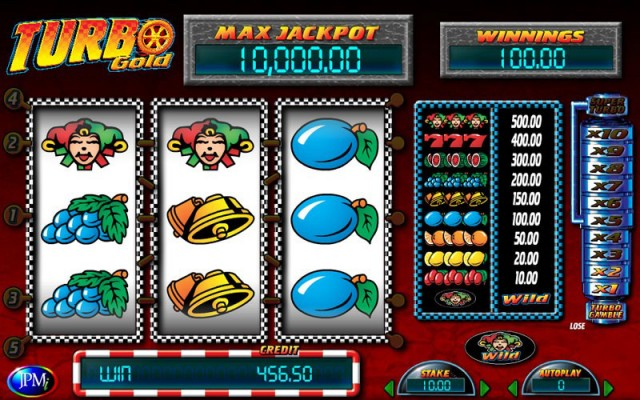 JPM Turbo Gold Fruit Machine