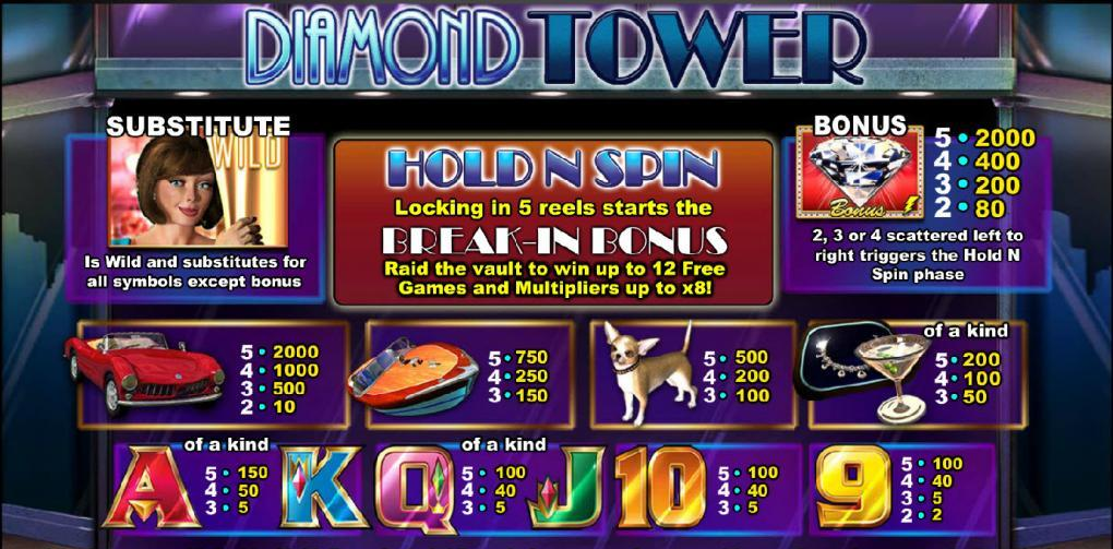 Diamond Towers Jackpot Slots