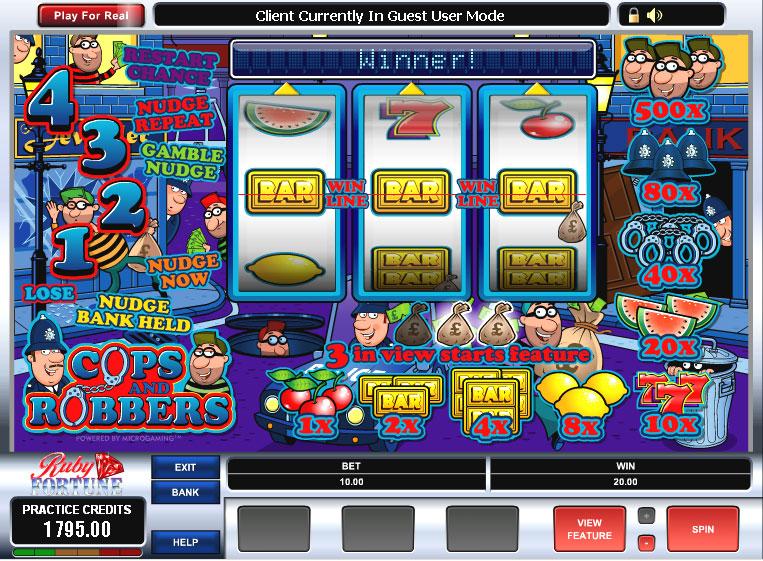 Cops n Robbers Fruit Machine