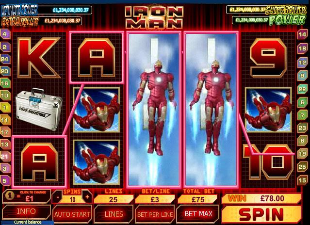 Iron Man Marvel Slots Game