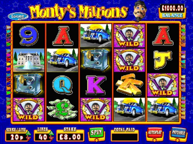 Monty's Millions Fruit Machine
