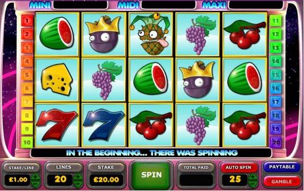 Astro Fruits 20 Line Slot