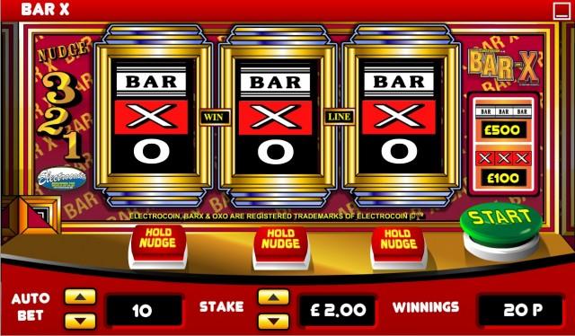 Bar-x Slot Machine