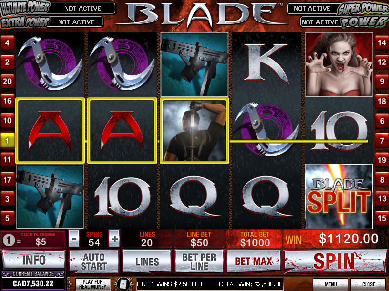 Blade Slot Machine Game