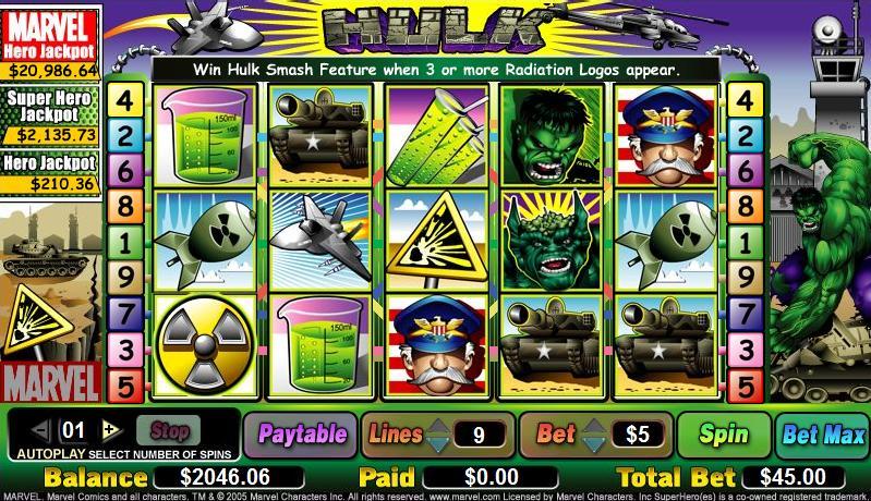 Hulk Marvel Slots Jackpot