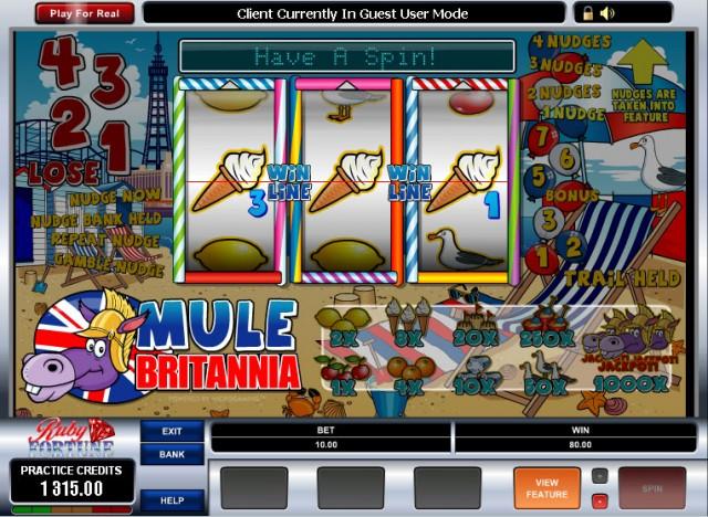 Mule Britannia Pub Fruit Machine