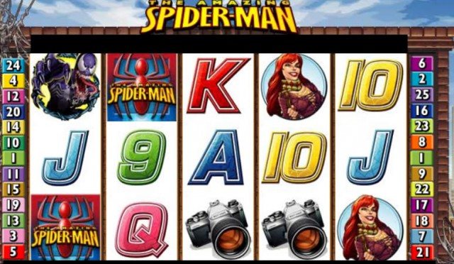 Spiderman Marvel Slots Game