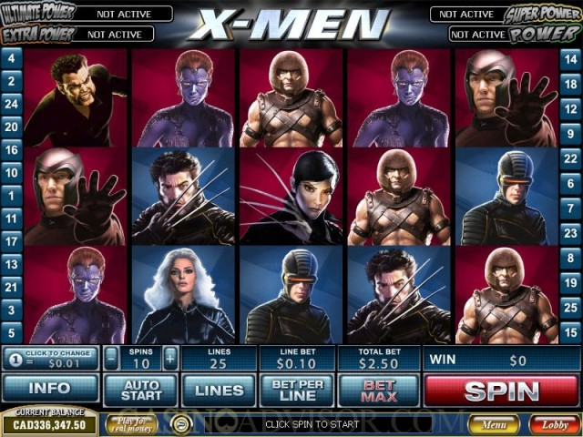 X-Men Marvel Comic Slots Game