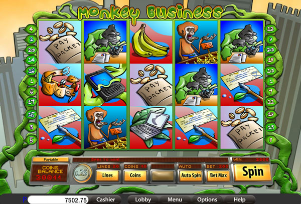 Monkey Business Slot Machine