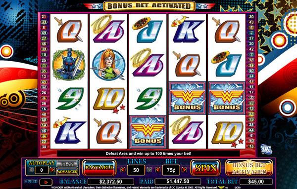 Play wonder woman slot machine online double down video poker free