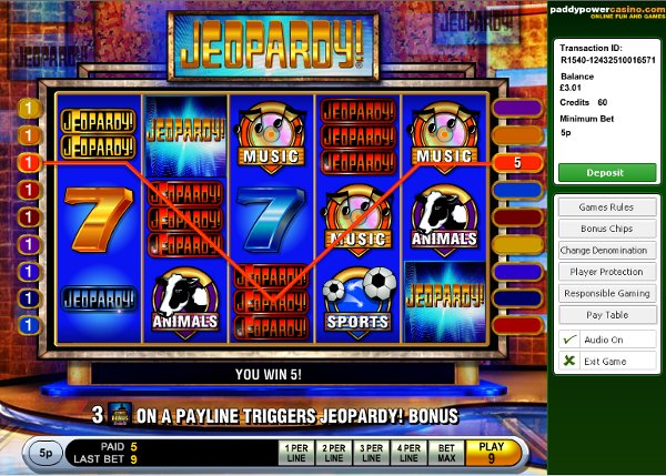 Jeopardy Mutli Line Video Slots