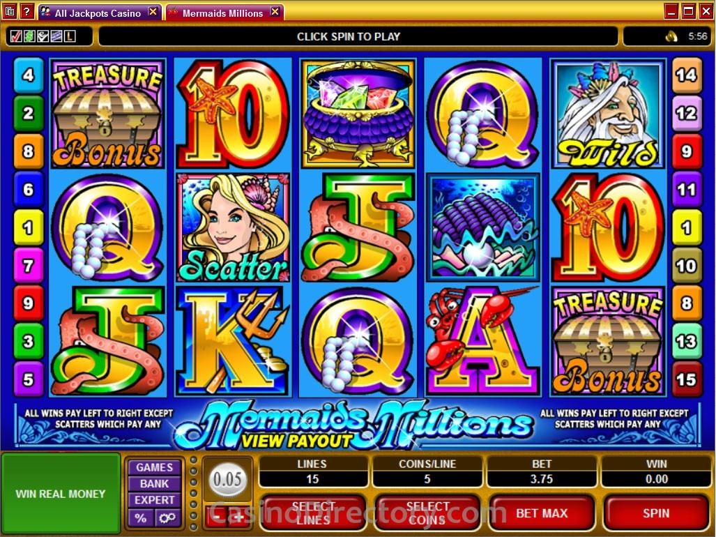 Mermaids Millions Themed Slots