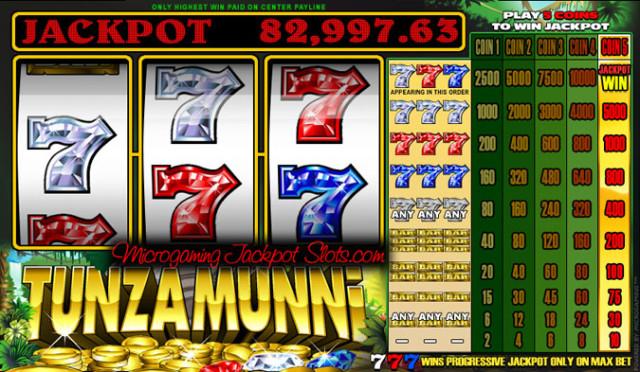 Tunzamunni Casino Slots