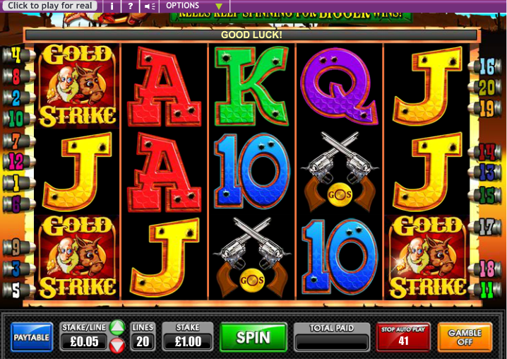 Gold Strike Slot Game